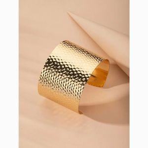 Simple Minimalist Textured Cuff Bangle Bracelet